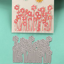 DUOFEN METAL CUTTING DIES 020014 1pc little flowers cutout lace hollow embossing stencil DIY Scrapbook Paper Album 2018 new(China)