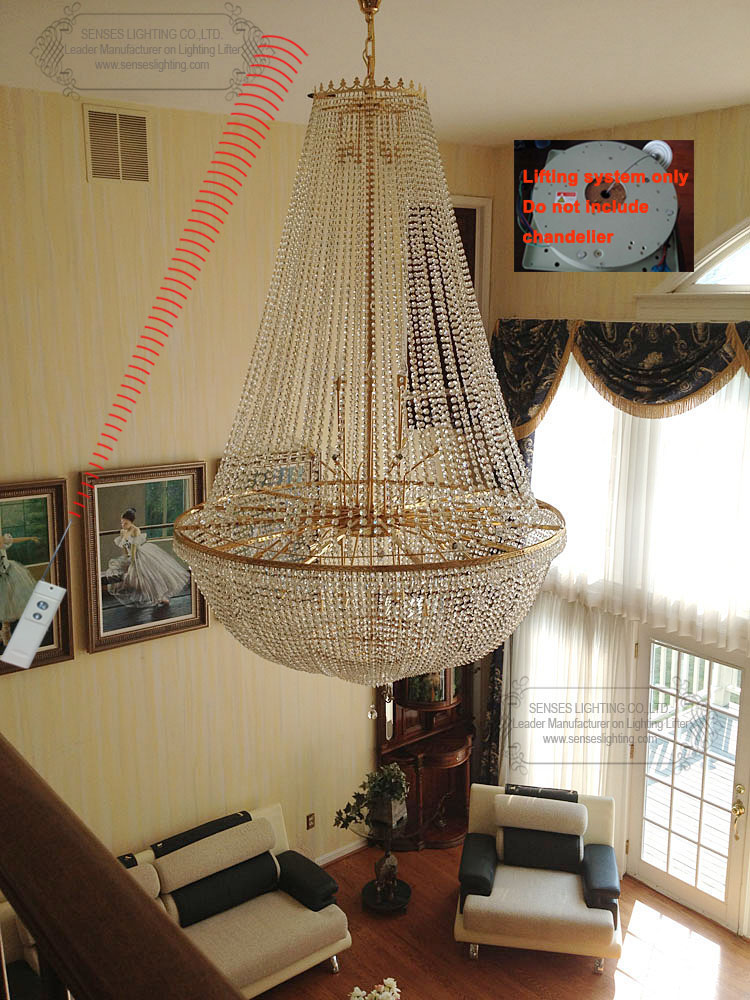 New 100kg 5m wire control remote control chandelier for Motorized chandelier lift system