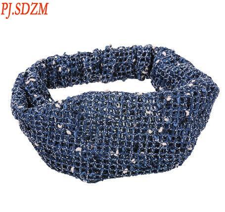 PJ.SDZM New Arrival Women Solid Color Headwear Fashion Wide Hair Clip Headbands Gift For Gilrfriend