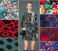 European Style Knitted Lycra Floral Print Cotton Fabrics Super Tissus Soie Wax Patchwork Telas African Cotton