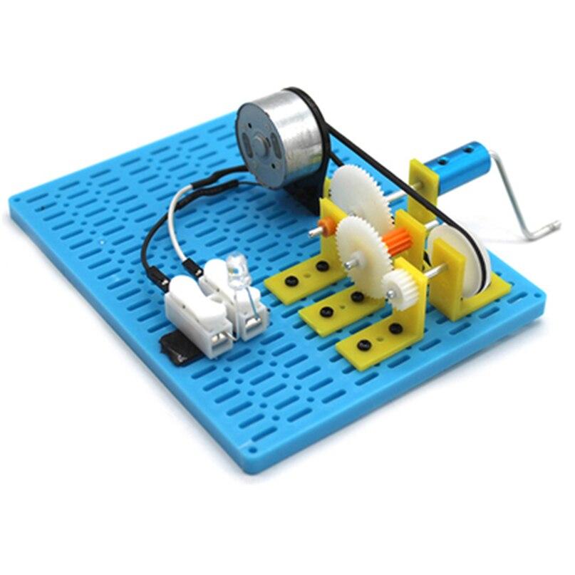 Квадратный ручной генератор Feichao, шестерня с ременной передачей, механический генератор мощности, научный эксперимент, игрушка «сделай сам...