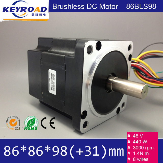 Buy 48v 440w 3000rpm 86mm Bldc Motor