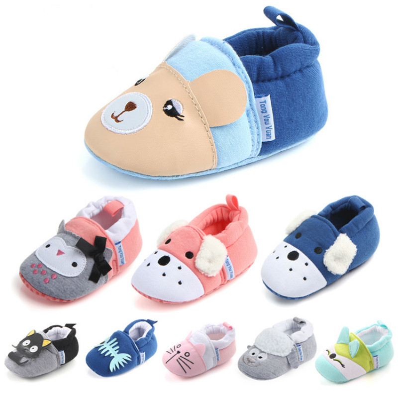 Bavoirsj Fashion Soft Warm Cotton Cloth Baby Shoes Lovely Cat Animal Safe Baby Crib Shoe ...