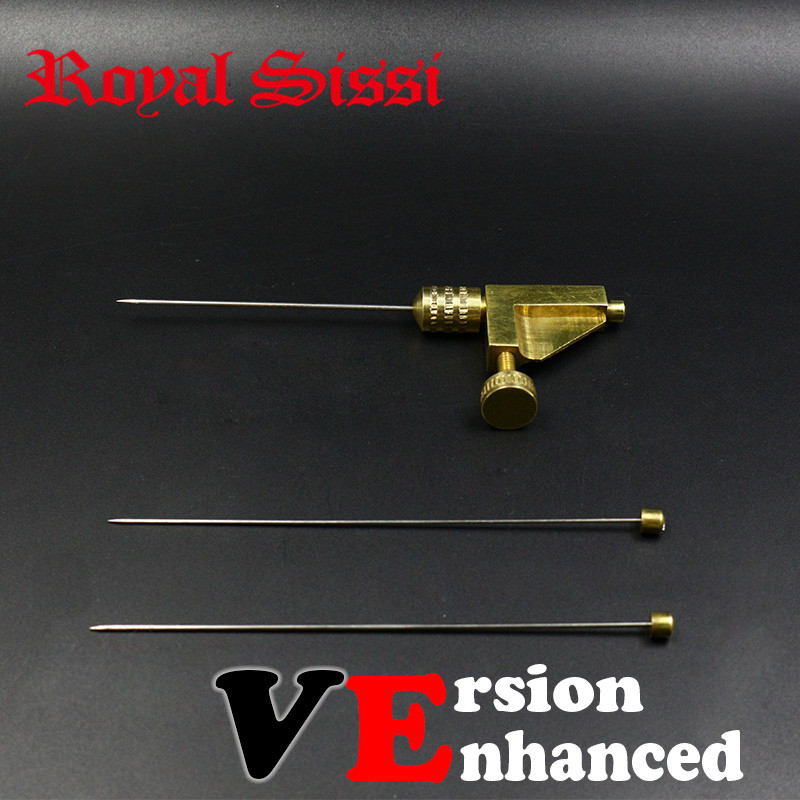 Royal Sissi 1set High Quality Tube Fly Tying Tools 3 Size Needles&brass Attachment Combo Enhanced Version Tube Fly Fishing Tools