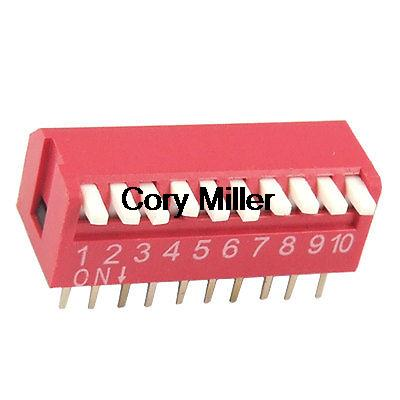 2.54mm Pitch 10 Position Piano Type DIP Switch