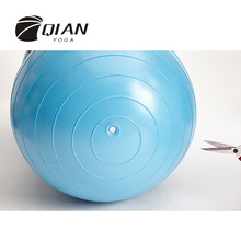 QIAN YOGA Professional Anti-burst Yoga Ball Peanut Shape Fitness Exercise Health Sports Gym Blue Color High Quality