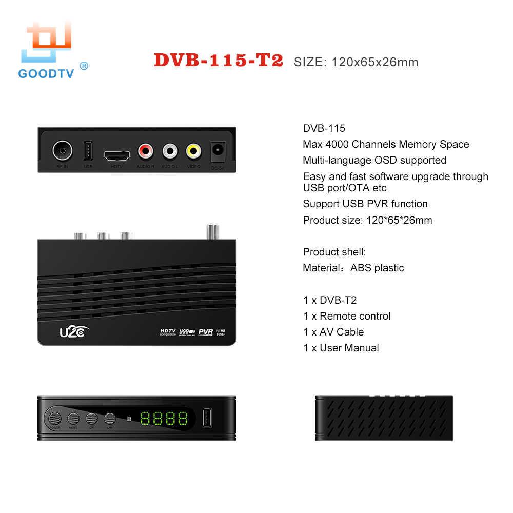 U2C DVB-T Smart TV Box HDMI DVB-T2 T2 STB H 264 HD TV Digital Terrestrial  Receiver DVB T/T2 Set-top Boxes Free Tv Russia