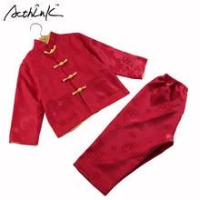 6e8309748 Conjunto de ropa de algodón y lino con bordado de dragón tradicional chino para  niños,