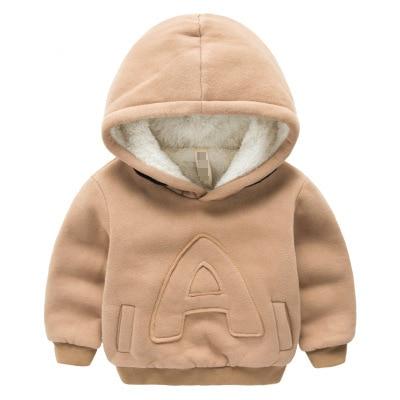 bf39bb6f3 € 8.91 30% de DESCUENTO|Invierno niños más sudaderas de terciopelo  sudaderas de algodón grueso moda bebé niños niñas abrigo de Cachemira ...