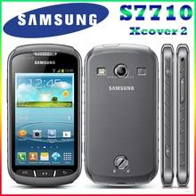 S7710 Оригинальный Samsung Xcover 2 S7710 1700 mAh 5MP GPS WIFI 4.0 Сенсорный Экран Мобильного Телефона Разблокирована Бесплатная Доставка