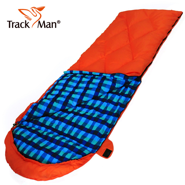 Trackman Camping Sleeping Bag Winter Duck Down Outdoor Hiking Sleeping Bags for Cold Weather Nylon Taffeta Soft Comfortable