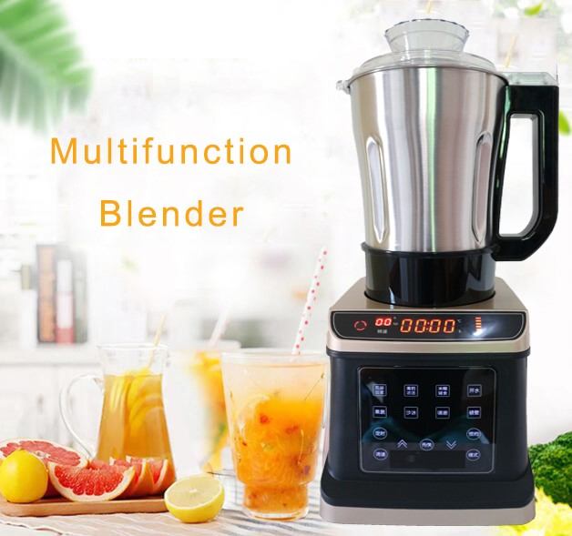 Stainless steel Commercial Grade Blender Mixer Juicer 2000W Food Processor Ice Smoothie Bar Fruit Blender with heat function b20 food grade 304 stainless steel 20l blender parts blender pat 33 3x19 7cm
