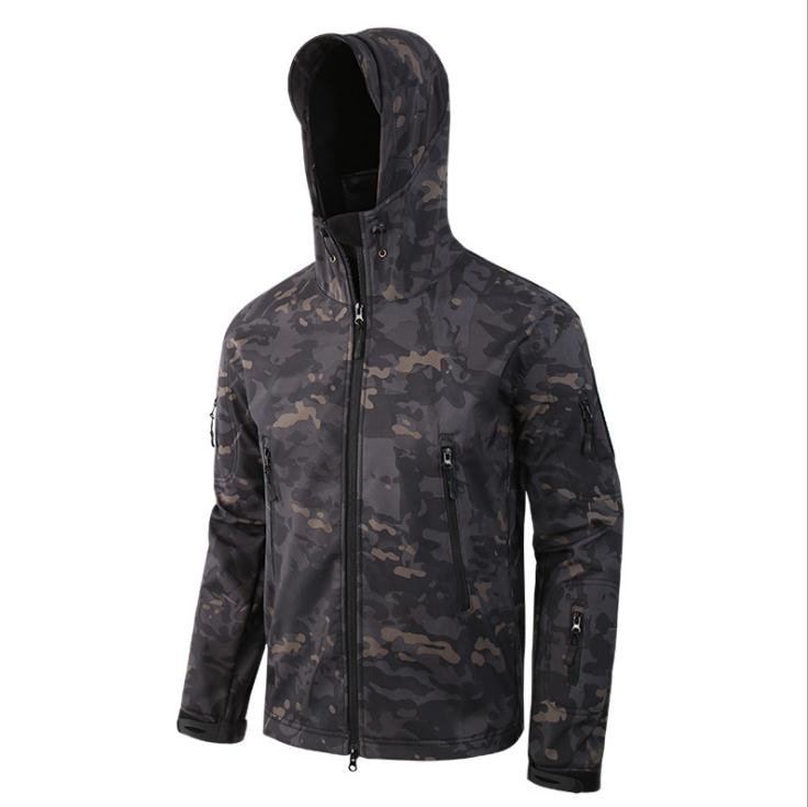 En gros 2018 extérieur ESDY thermique épaissir transfrontalier peau de requin doux shell ski-wear homme exercice laine uniformes veste hommes
