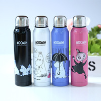 Moomin Muumi Cartoon Vacuum Cup Stainless Steel Thermoses Double Walled Travel Water Bottle Child Gift Thermos