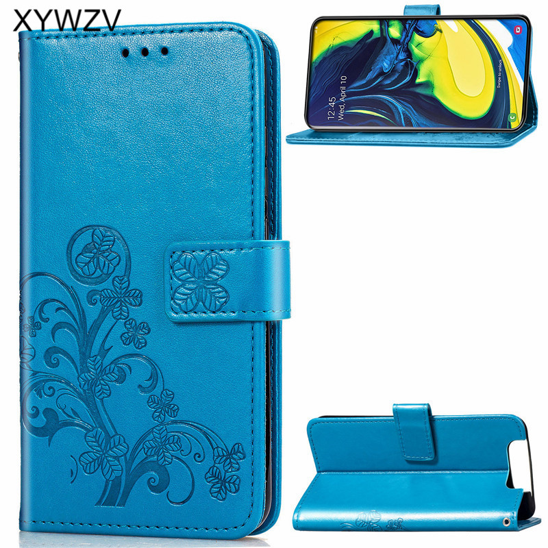 For Samsung Galaxy A80 A90 Case Soft Silicone Filp Wallet Shockproof Phone Bag Case Card Holder Fundas For Samsung A80 A90 Cover-in Flip Cases from Cellphones & Telecommunications