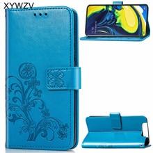 Pour Samsung Galaxy A80 A90 étui souple en Silicone Filp portefeuille antichoc téléphone sac étui porte carte Fundas pour Samsung A80 A90 couverture