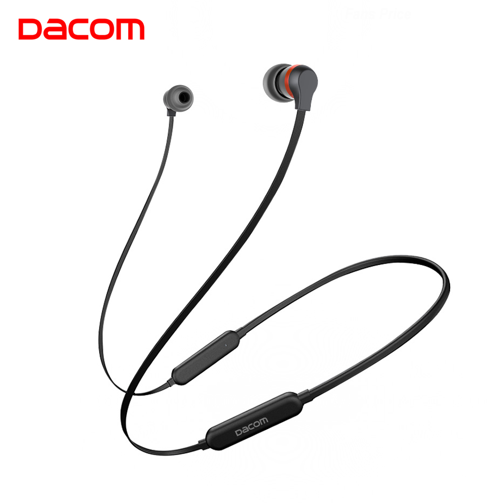 Dacom L06 Wireless Headphones Bluetooth Earphone Sports Stereo Bass in-Ear Earbuds Neckband Earphones Headset with Mic for Phone hena new stereo wireless bluetooth earphone ear hook headset not earbuds headphones hd call wireless earphone for phone with mic