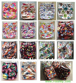 2019 Promotional 28pcs /lot babyleak-proof cloth diapers  choose desigen