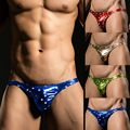 Men's Underwear Wholesale Imitation Leather Coat Paint Underwear Stage Shows Stars Printing Men's Briefs