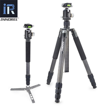 INNOREL RT85C Heavy Duty Professional Carbon Fiber Tripod Monopod Base Double Panoramic Ball Head for Nikon Canon DSLR Cameras