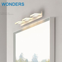 ED Contemporary contracted wall lamps Ip 65 9W 3 heads Bathroom Mirror Light Stainless acrylic Wall Sconce white