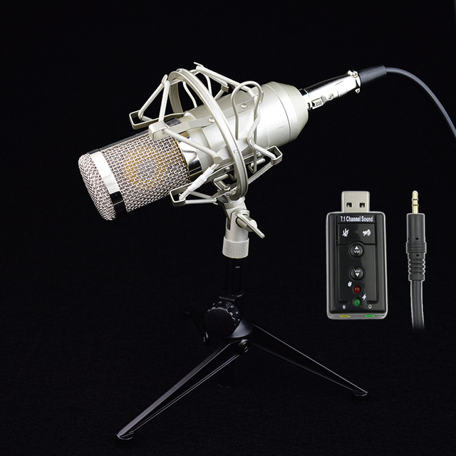 BM800 + Конденсатор БМ-800 PC/КТВ Pro Микрофон Вокальный Аудио Студия КТВ Караоке Микрофон + Металл Крепление Амортизатора + металл Штатив