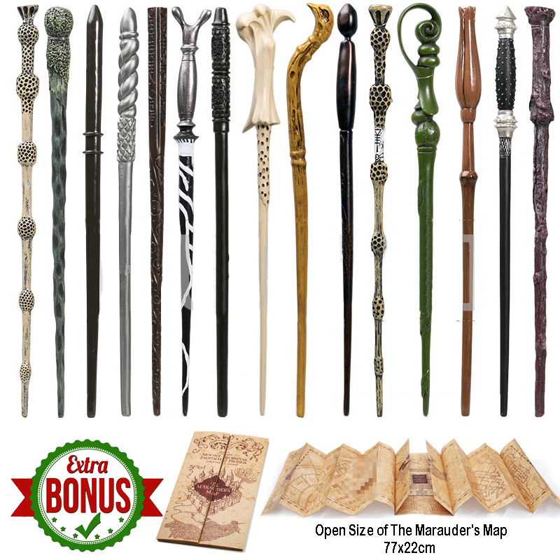 22 Kinds Of  Magic Wand With Box Voldemort Ron Hermione Dumbledore Luna Magic Wand Harried The Marauder's Map As Gift