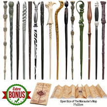 22 Kinds of Magic Wand with Box Voldemort Ron Hermione Dumbledore Luna Magic Wand Harried The Marauder's Map as Gift(China)
