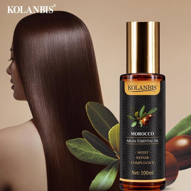 Natural Pure Moroccan Argan Hair Essential Oil Leave In Conditioner For Split Ends Long Hair Treatment Organic Argan Oil Serum 4