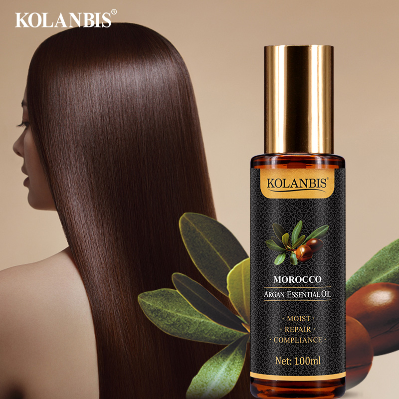 Argan essential oil leave-in conditioner hair mask make hair shiny and beautiful image