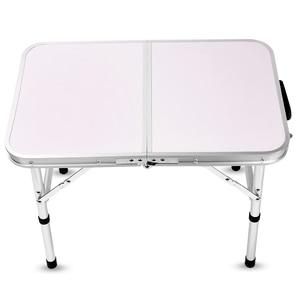 Image 4 - アルミ折りたたみテーブルラップトップのベッドデスク調節可能な屋外のテーブルバーベキューポータブル軽量シンプルな防雨ピクニックキャンプ
