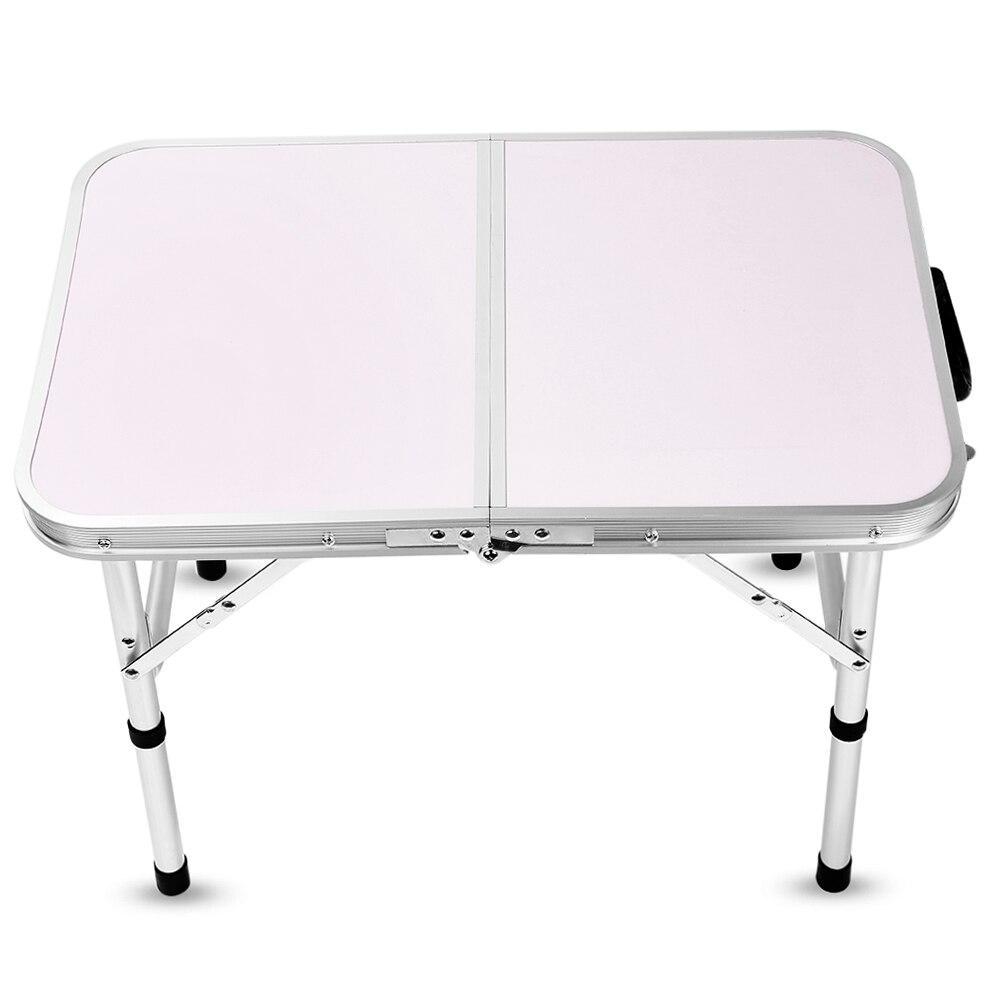 Table pliante en aluminium bureau de lit d'ordinateur Portable Tables extérieures réglables BBQ Portable léger Simple imperméable à la pluie pour pique-nique Camping - 3