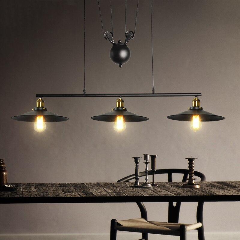 3 ttes rtro loft lustre salon salle manger pendentif lampe vintage restaurant bar club bureau caf lumire droplight