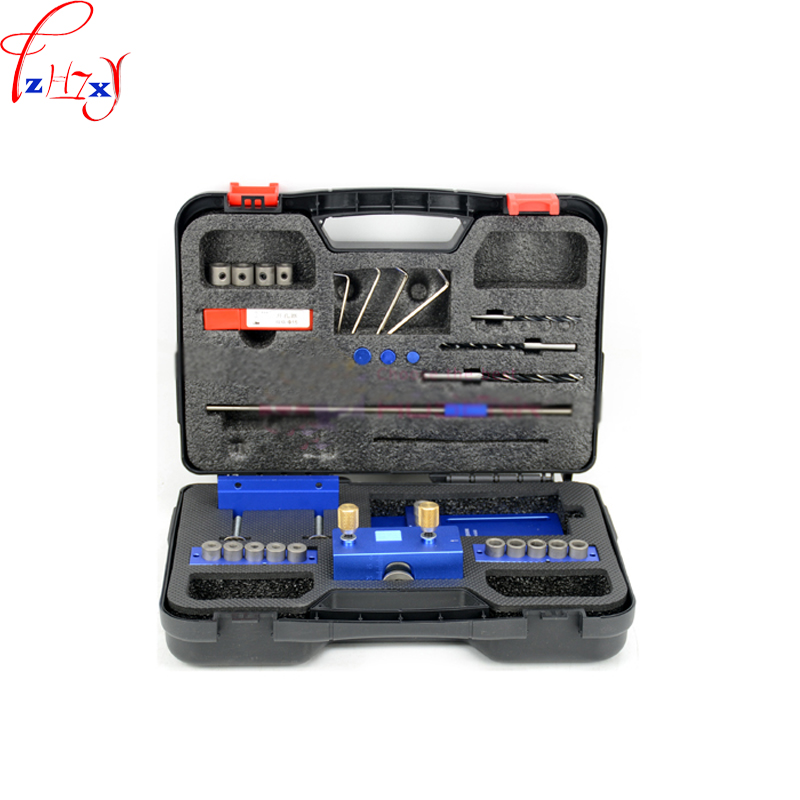 New Round wood tenon hole locator 3 in 1 woodworking opener tools 08400 portable log tenon punch set 1pc