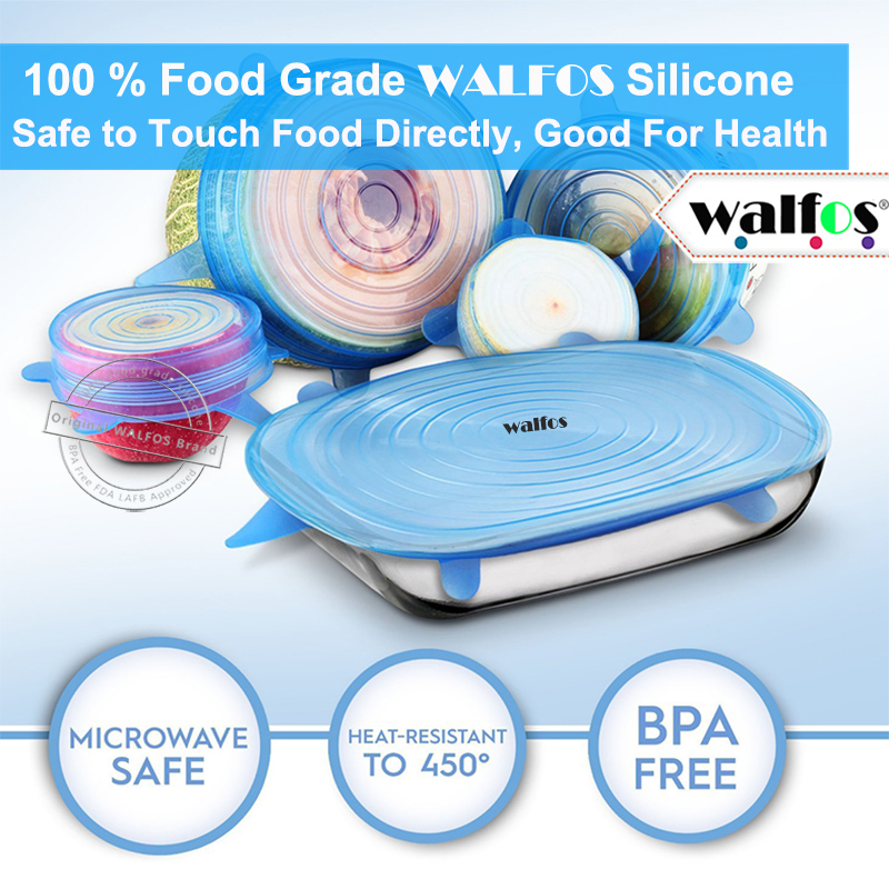 Kuća i bašta ... Kuhinja i trpezarija ... 32469136571 ... 3 ... WALFOS silicon stretch lids universal lid Silicone food wrap bowl pot lid silicone cover pan cooking Kitchen accessories ...