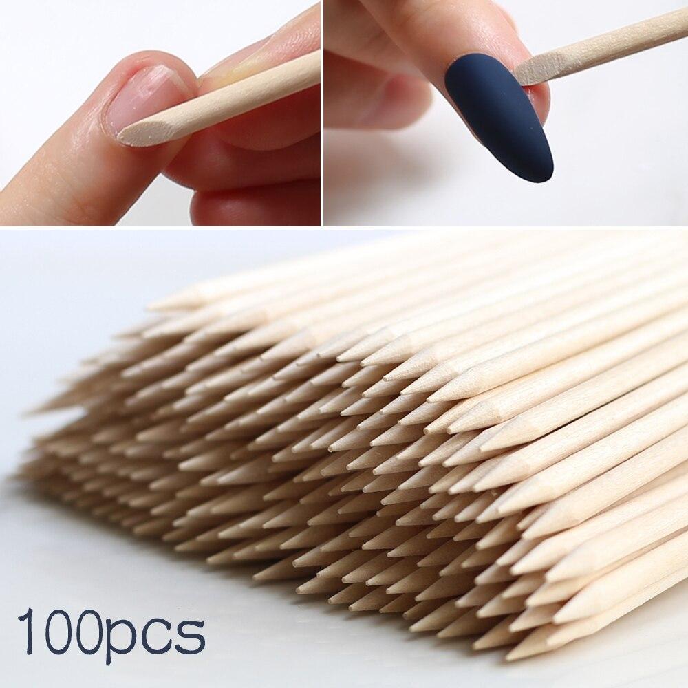 Dismount Wood Stick Nail Art Design Sticks Cuticle Pusher