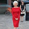 Vermelho curto Mãe dos vestidos de noiva Bainha Moda Lindo Na Altura Do Joelho Elegante Runway Celebridade Partido vestidos Custom H201
