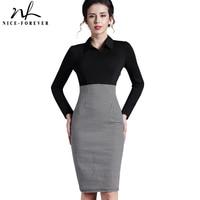 Long Sleeves Victoria New 2014 Winter Dress Vintage Women Formal Plaid Turn Down Collar Wear Work
