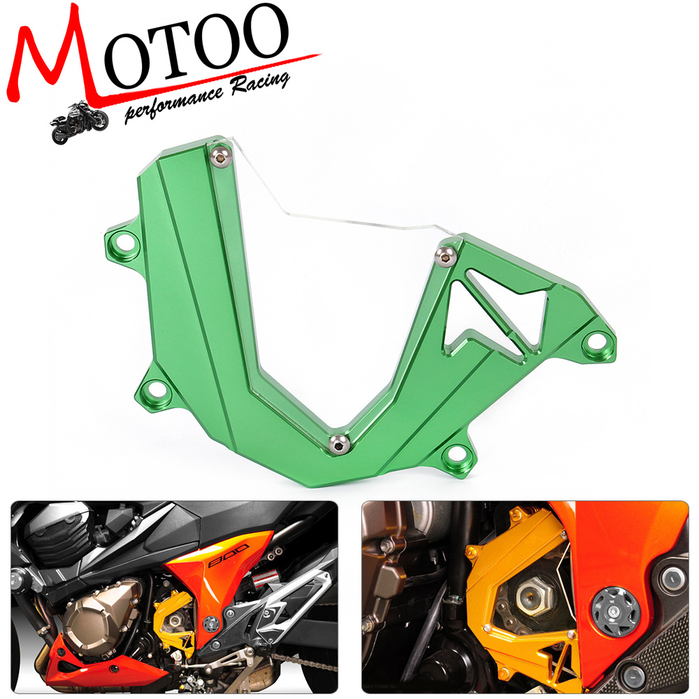 Motoo - CNC Motorcycle Accessories Left Engine Front Sprocket Chain Guard Protection Cover For  Kawasaki Z800