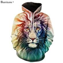 BIANYILONG Neue Mode Männer/Frauen 3d Sweatshirts Drucken Paisley Blumen Lion Hoodies Herbst Winter dicke Kapuze Pullover Tops 6XL
