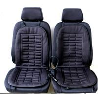 2pcs Car Supplies Heating Car Seat Covers Winter Car Seat Cushion Heated Blending Monolithic Keep Warm