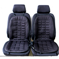 2pcs Car Supplies Heating Car Seat Covers Winter Car Seat Cushion Heated Blending Monolithic Keep Warm