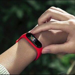 Image 4 - Mi bande 4 bande intelligente Original Xiao mi Sport Fitness Tracker podomètre surveillance de la fréquence cardiaque Fitbits Bracele pour xio mi bande 4 3
