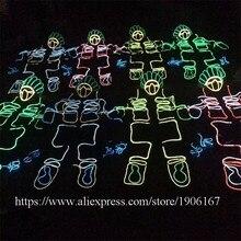 LED холодный свет робот костюм EL Провода сцены Костюмы для бальных танцев костюм TRON танец световой одежда партия ТВ show Костюмы