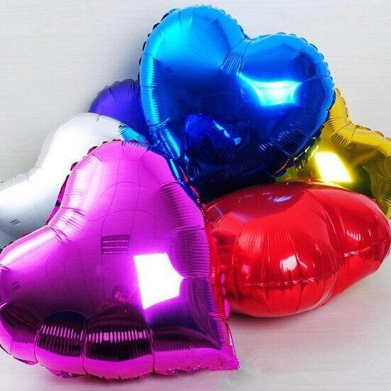 Aliexpress.com : Buy Heart Balloons Shiny Aluminum Foil Balloons Heart Foil  Balls Wedding Decoration Love Happy Birthday Party Decoration 5pc/set from  ...
