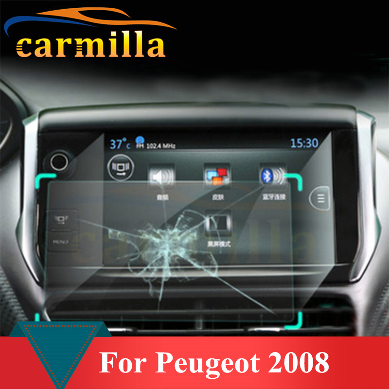 Bilens centrala justeringspanel Navigation Film Anti Scratch Protection för Peugeot 2008 År 2014 2015 2016 Acc.