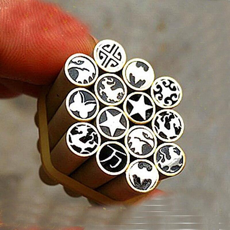 Couteau tige Mosaïques aigle Dragon Rivets 45mm nail En Laiton tube 6mm DIY couteau poignée vis Plus conception