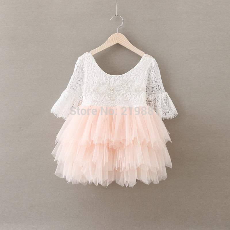 Retail 2017 Girls summer lace princess font b dress b font kids font b dress b