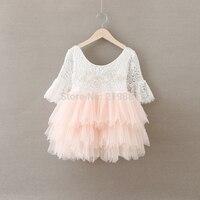 Retail 2016 Girls Summer Lace Princess Dress Kids Dress Girls Costumes BW66