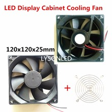 LYSONLED 10 pcs/lot Outdoor And Indoor P10 LED Display Cabinet 120x120x25mm Cooling Fan ,Support P3/P4/P5/P6/P8/P10/P16